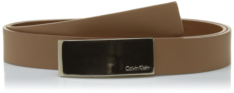 Calvin Klein Standalone Curved Plaque Belt, Cintura Donna Marrone (Caramel 230) 80 K60K602362