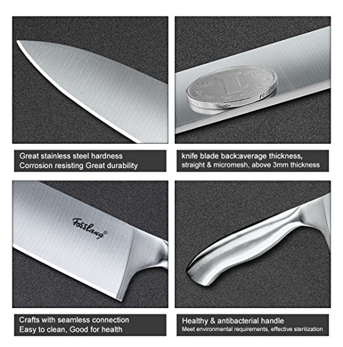 chef knife stainless steel 8 inch blade kitchen knives