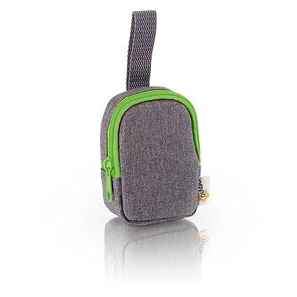 DIAGO 30067.75274 Deluxe - Funda para chupete, color gris y verde