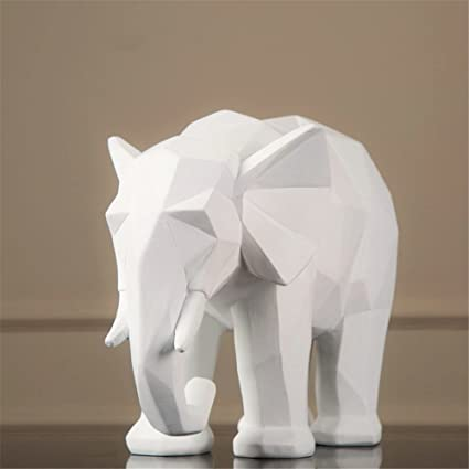 Amazon Com Creative Black And White Elephant Animal Resin Crafts