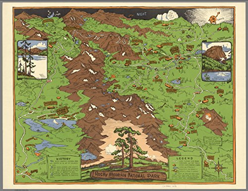 Map Poster - Rocky Mountain National Park, Estes Park, Grand Lake 17