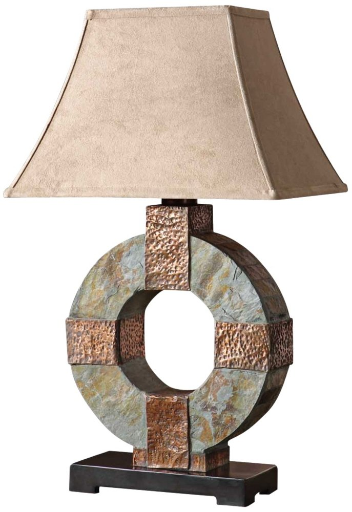 Uttermost 28-1/2-Inch Tall Slate Table Lamp - Outdoor Table Lamps ...