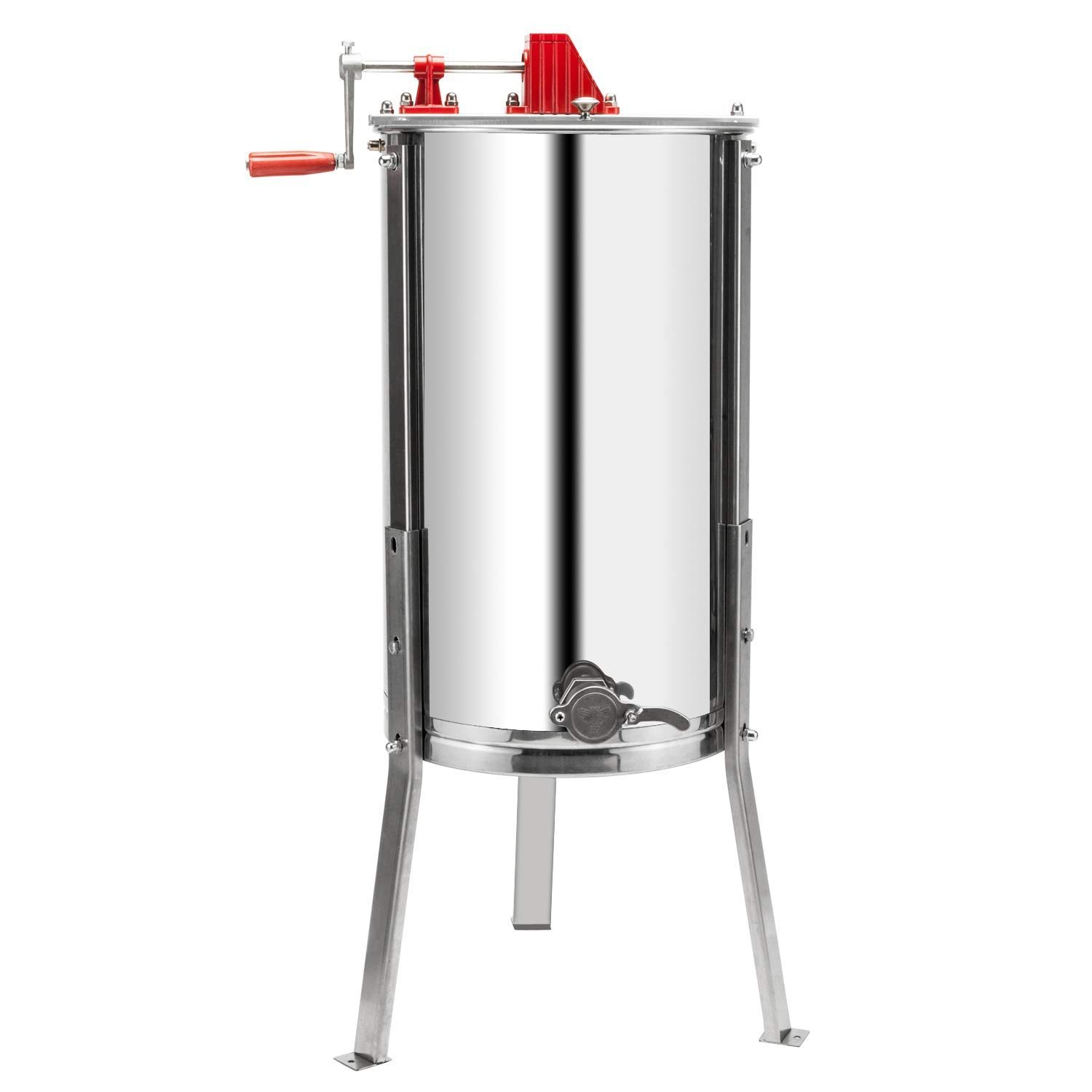 VINGLI Upgraded 3 Frame Honey Extractor Separator, Food Grade Stainless Steel Honeycomb Spinner Drum Manual Crank with Adjustable Height Stands,Beekeeping Pro Extraction Apiary Centrifuge Equipment by VINGLI