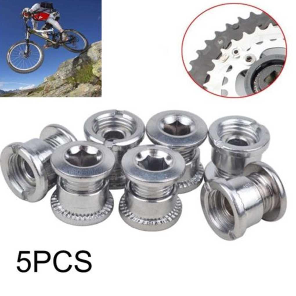 coconut 5Pcs Zubeh?r Fahrrad-Ketten-Radschraube Einzel Kurbeln Kettenblattschrauben