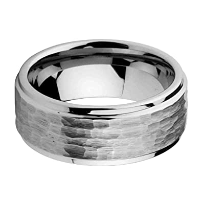 9mm mens tungsten carbide comfort fit hammered wedding band ring size 6 to 15