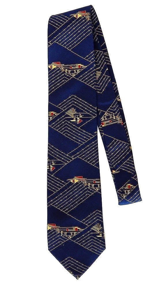 Blue Boxelder Mens Silk Tie Frank Lloyd Wright Taliesin Design