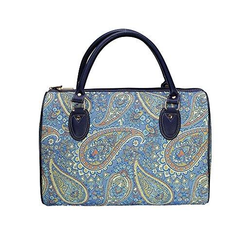 Borsa donna Signare alla moda in tessuto stile arazzo per viaggi di un fine settimana o di una notte sola Paisley