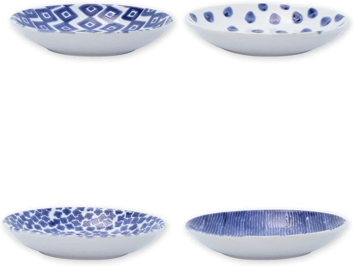 Vietri Viva Santorini Assorted Pasta Bowls Set Of 4 Kitchen Dining