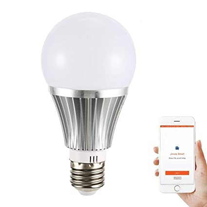 YUNDING - Bombilla LED Inteligente, Control Remoto WiFi/E27/RGBW regulable/18