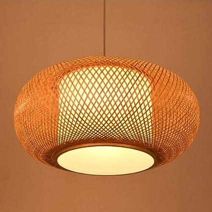 Amazon.com: AUNLPB - Lámpara de araña de bambú creativa para ...