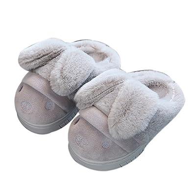 Chaussons gonflables antidérapants pour enfants d'automne et d'hiver, gris