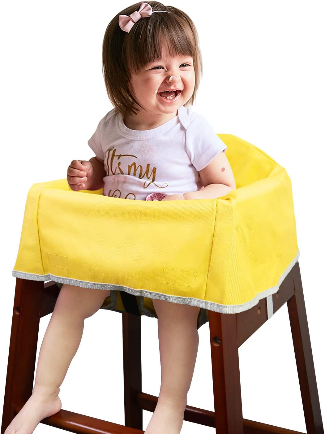 Solfres Dual Belt High Chair Cover, Baby High Chair Cover