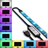 USB LED Lighting Strip for HDTV - Extra Large (158in / 4m) - Multi-Color RGB - USB LED Backlight Strip with Dimmer for…