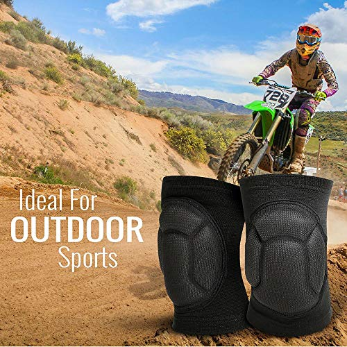 TY BEI Kneepad Kneepad - Protective Knee Pads, Thick Sponge Anti-Slip, Collision Avoidance Knee Sleeve @@ (Color : Black) by TY BEI (Image #5)