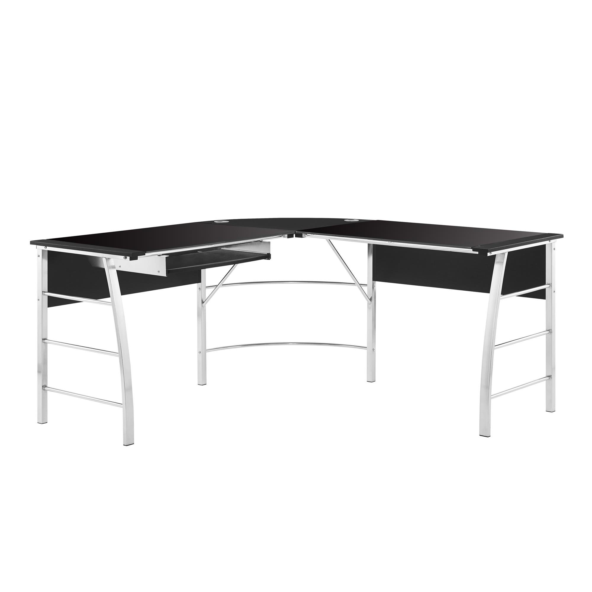 Altra Furniture 9105396COM Wingate Glass Desk Altra Top L, Black