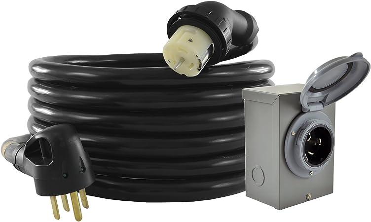 50FT Generator Power Cord 50-Amp 125//250-volt 14-50P to CS6364 Locking Connector