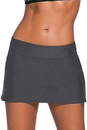 6b2f00824b Dokotoo Femme Bas de Maillot de Bain Jupe de Sport avec Short de Bain  Clouleur Unie