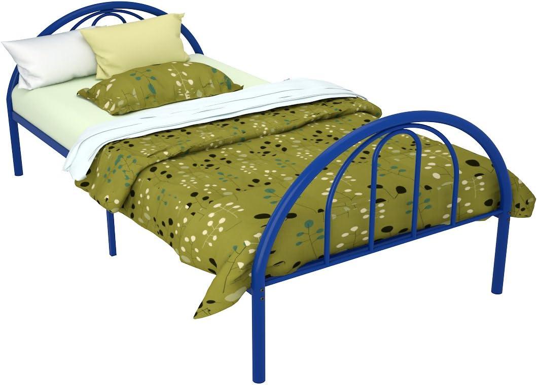 Brooklyn Metal Twin Bed (Blue)