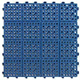 Greatmats Patio Outdoor Tile 11-5/8 x 11-5/8 x 1/2 inch 30 Pack Blue
