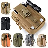 Efanr Universal Outdoor Tactical Holster Military Molle Hip Waist Belt Bag Wallet Pouch Purse Phone Case with Zipper Compatible with Samsung Galaxy S7 S6 LG HTC and More Smartphones (Camouflage-6)