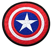 Captain America Super Hero Comic Avenger Embroidered Iron/sew on Patch T- Shirt