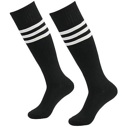 cosanter de calcetines Hombre Mujer Fútbol Béisbol Deportes Calcetines de compresión calcetín, Negro