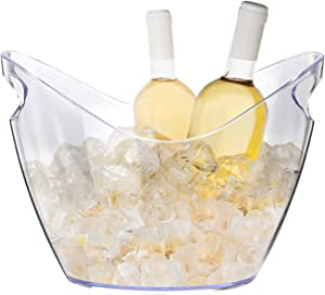 Ice Bucket Wine Bucket,Clear Acrylic 4 Liter Plastic Tub for Drinks and Parties, Food Grade, Perfect for Wine, Champagne or Beer Bottles