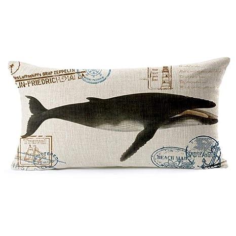 LIUWAN Home Deep Sea Fish Abrazo Funda de Almohada Juego de ...