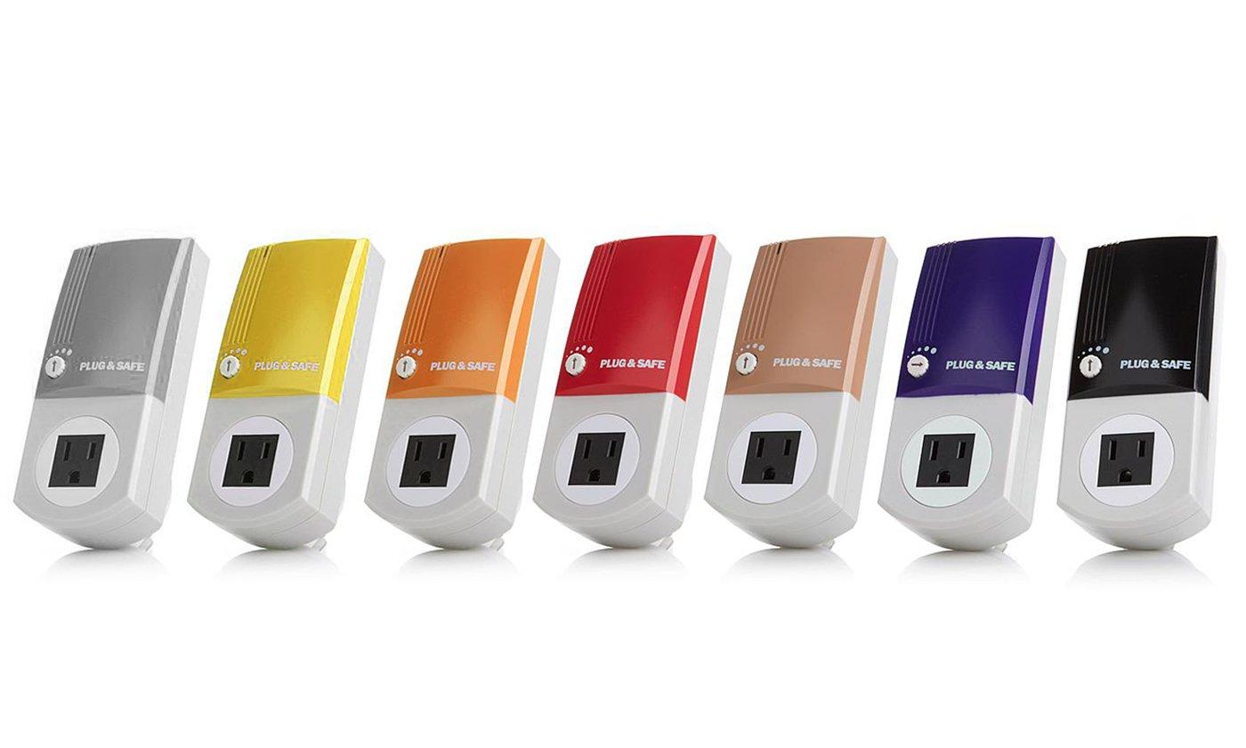 Plug & Safe - Alarm Motion Sensor Detector - Wireless Security System for Home - Adjustable Sensitivity - Effective Window Vibration Sensor - Hassle Free Emergency Alert Equipment (Black)
