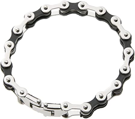 Prosperveil - Pulsera de acero inoxidable con diseño de cadena ...