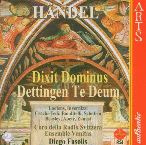 Svizzera Radio Chor/ Ensemble Vanitas Dettingen Te Deum/Dixit Dominus Mixed Choir