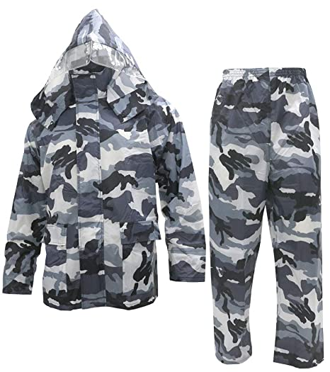 noxus men s rain suit camouflage rain jacket and pants rainwear sets