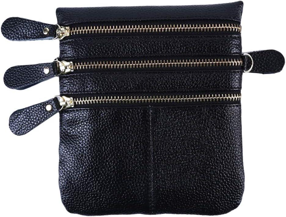 DearAnswer Mini Crossbody Bags Soft PU Phone Pouch Zipper Coin Purse Card Holder for Women Girls,Red