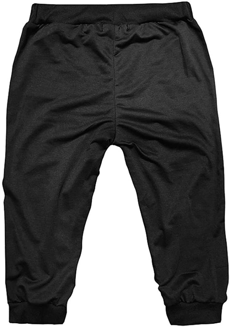 GREFER Summer Men Sport Shorts Pants Elastic Waist Casual Sportswear Harem Pants