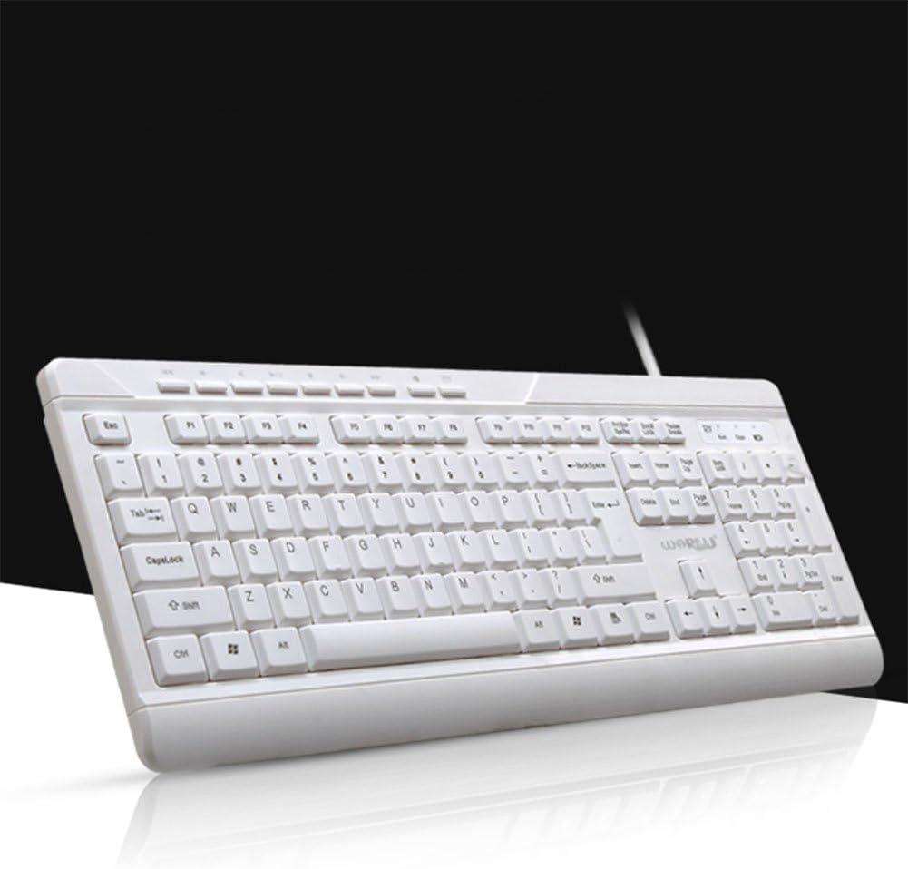 elegantstunning Professional Business Wired//Wireless Keyboard Light Portable Ultra-Thin Keyboard for Home Office Wireless Multimedia Black