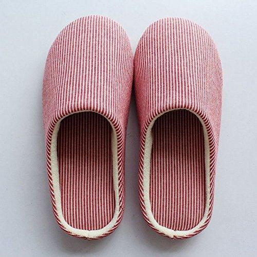 Bois D'Hiver B de 39 Maison de Coton Muet Pantoufles Femmes A Souples 42 Intérieure Chaussures Et Pantoufles Antidérapant Hommes Plancher Maison de 36 Amateurs de les la à 39 xAwq4O7x