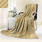 AmaPark Digital Printing Blanket s Weaving Byzantine Islamic Lace Motifs Summer Quilt Comforter