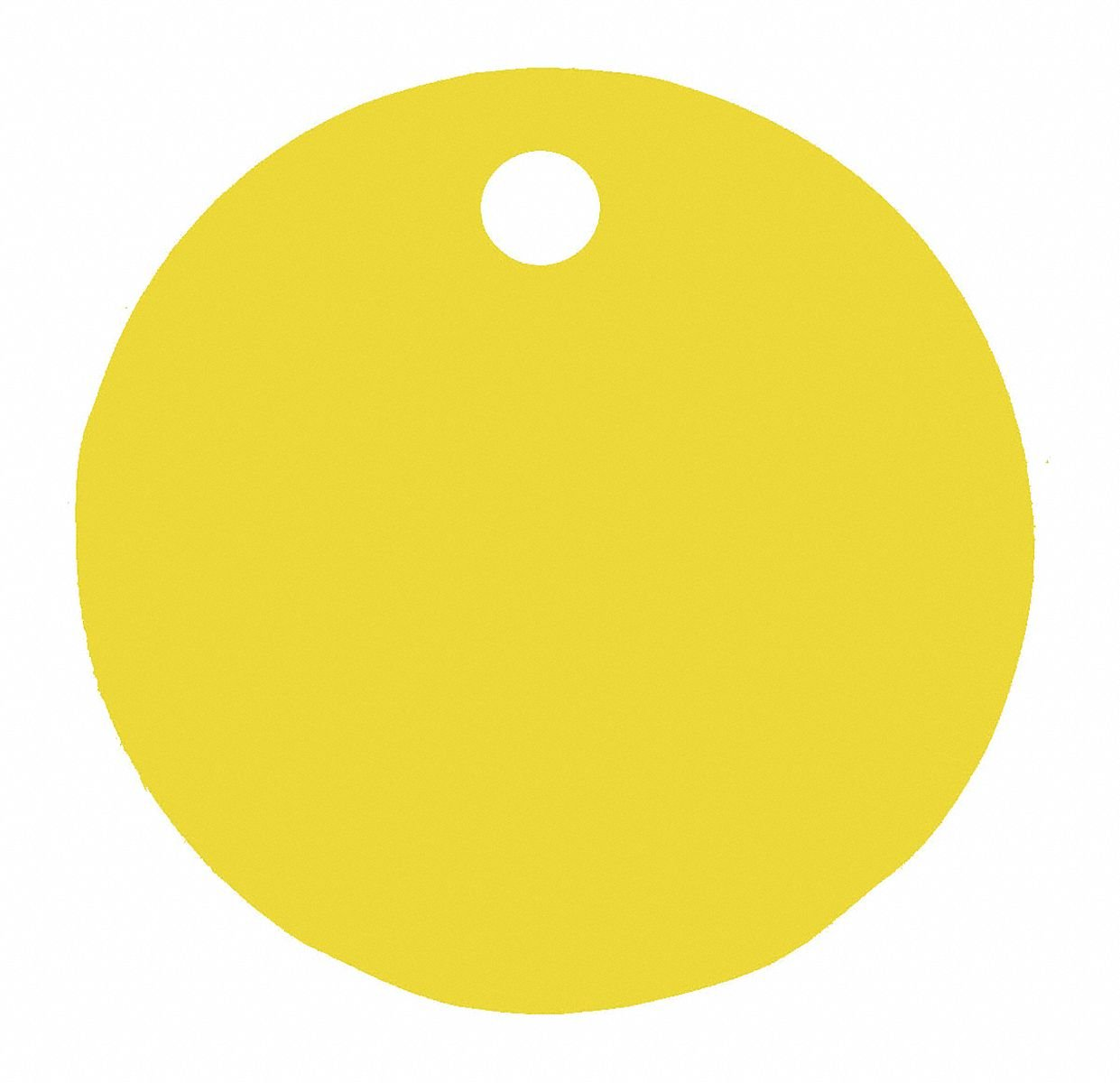 Yellow Blank Tag, Aluminum, Round, 1'' Height, 5 PK