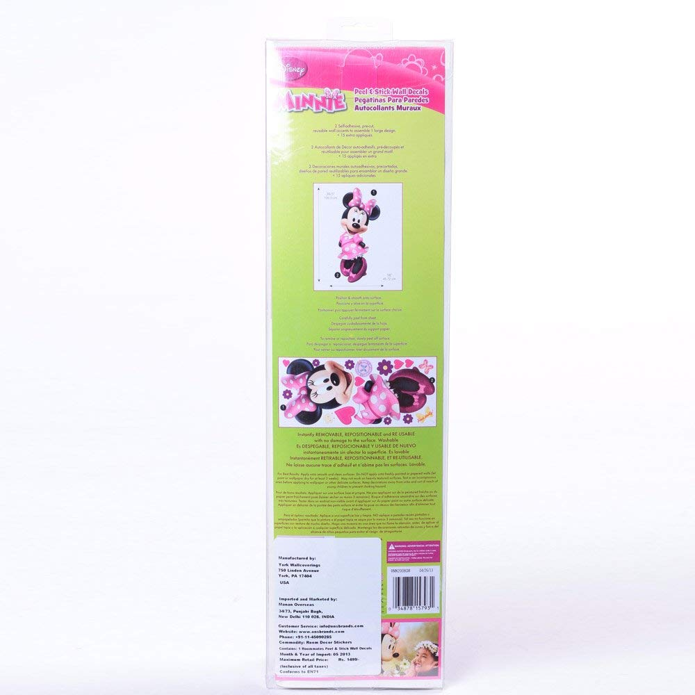 RoomMates Minnie Bow-Tique Peel and Stick Giant Wall Decal - RMK2008GM by RoomMates