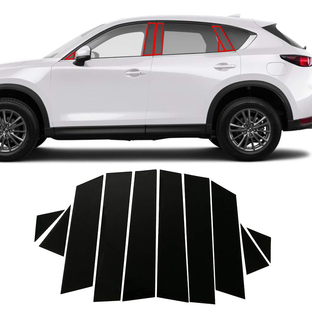 10pcs set piano black window pillar sticker for mazda cx5 accessories 2019 2018 2017buennus car window pillar posts trims for mazda cx 5 cx 5 decorative