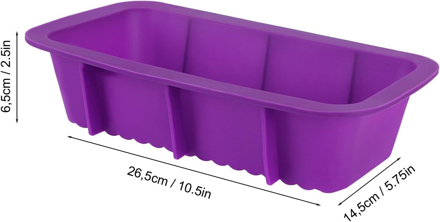 Furu Six-rectangle Moule en silicone pour Candy Chocolate Cupcake g/âteaux et faire votre propre Maison Barre de savon