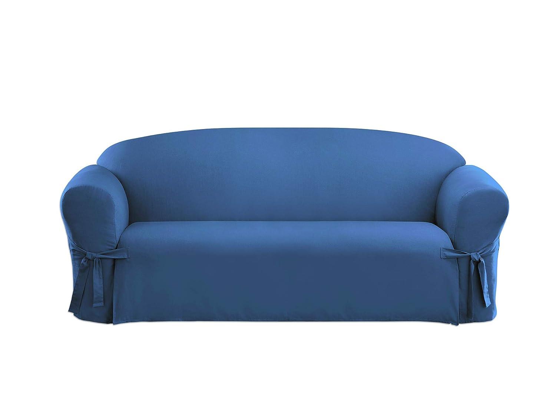 Fantastic Surefit Cotton Duck Sofa Slipcover Bluestone Sf33055 Interior Design Ideas Grebswwsoteloinfo