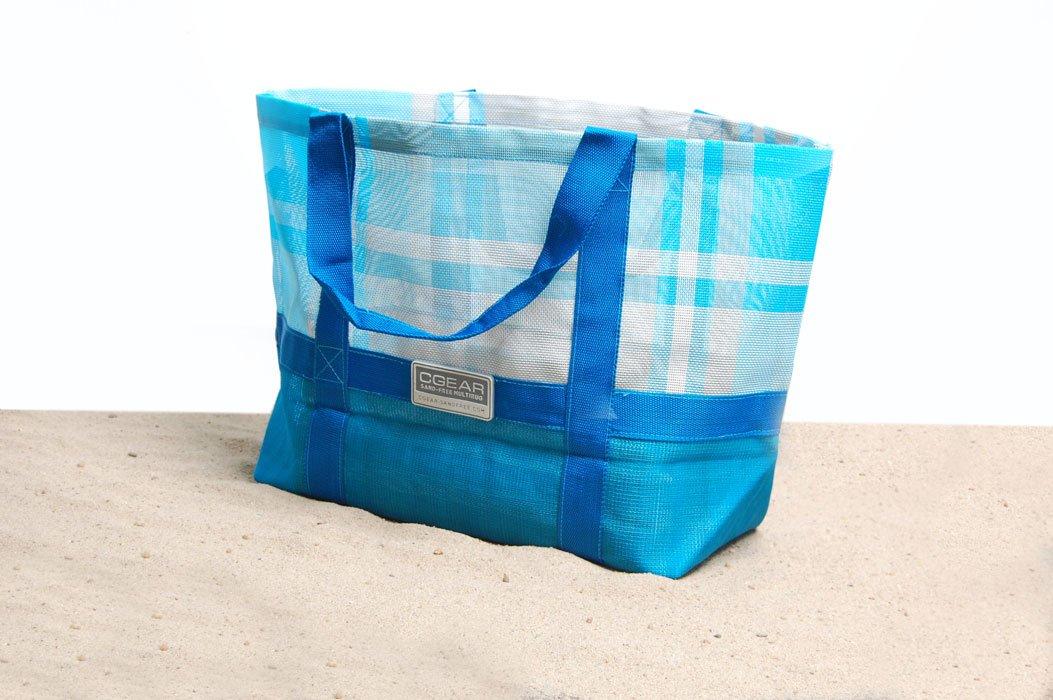 CGear Sand-Free Tote Bag (15 x 17 x 7.5-Inch, Blue Plaid) TB005