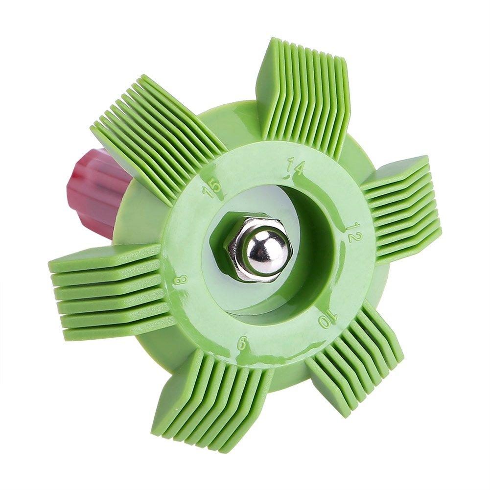 WOVELOT Car Automotive Refrigeration A//C Condenser Radiator Evaporator Fin Straightener Comb Rake Cleaner Tool White