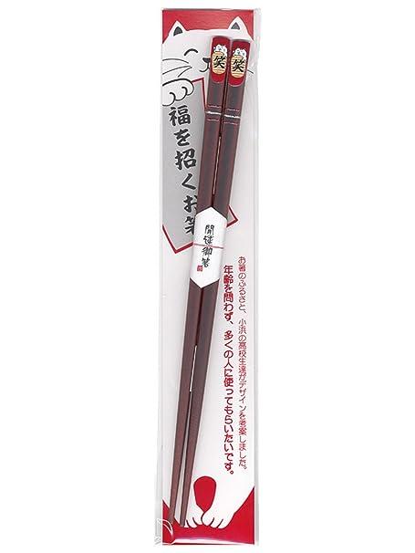 Tanaka Chopsticks Shop Wakasa Palillos Chinos revestidos para Gatos fukuwarai 21,0 cm