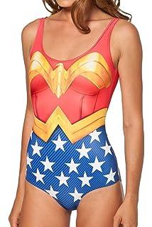 Amazon.com: Lady Queen para mujer Wonder Woman traje de baño ...