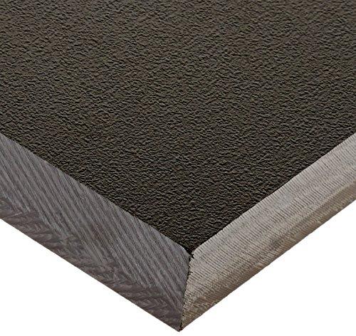 Seaboard Light High Density Polyethylene Sheet, Matte Finish, 1'' Thick, 12'' Length x 12'' Width, Black by Vycom