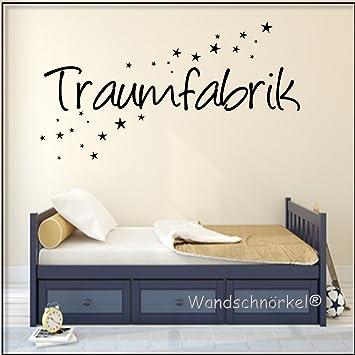 Wandtattoo Schlafzimmer Spruch Traumfabrik (120x25cm ...