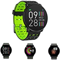 Unique-Fit Smart Watch Fitness Tracker Smart Watch IP67 Monitor de Actividad, Monitor de Pasos, Reloj Deportivo Inteligente para niños, Mujeres y Hombres (Morado)
