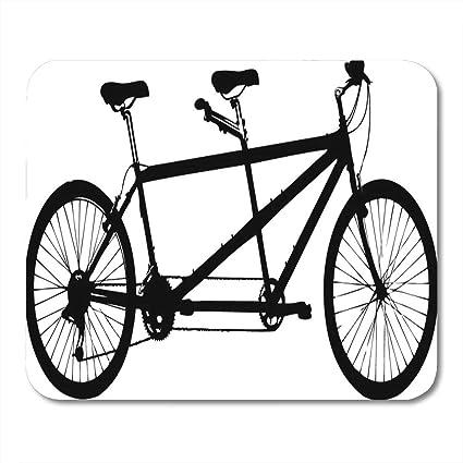 Alfombrillas de ratón Doble Negro Bicicleta Tándem Bicicleta ...